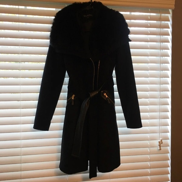 Via Spiga Jackets & Blazers - Dress coat fur collar